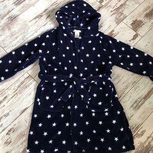 Pottery Barn star print navy robe
